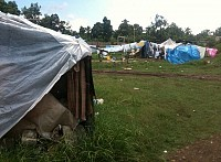 Small Orthodox tent city in Leogane.