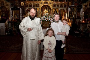 Deacon Andrei Psarev with his family.<br/>Photo: S.Yakubov
