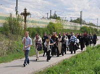 Cross Procession to a former concentration<br/> camp in Dahau, May 2010.