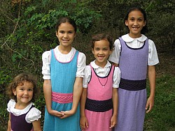 Helena, 3, Sarah, 8, Elizabeth, 6, Catherine, 11.