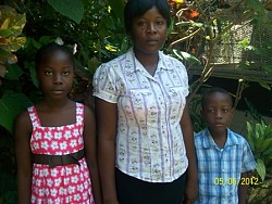 Madeleine Randiche and her children.