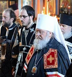Left to right: Deacon Andrei Psarev, <br/> Peter Markevich, Metropolitan Hilarion.