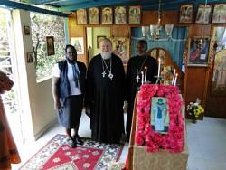 Metropolitan Hilarion with Fr. Gregoire and mat. Rose Legoute