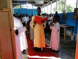 Liturgy at St. Augustine parish in Jacmel.