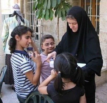 Sister Martha with some of the orphans. Photo credit: pravoslavie.ru