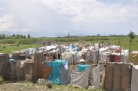 Tent city in Port-au-Prince.<br>April 2010